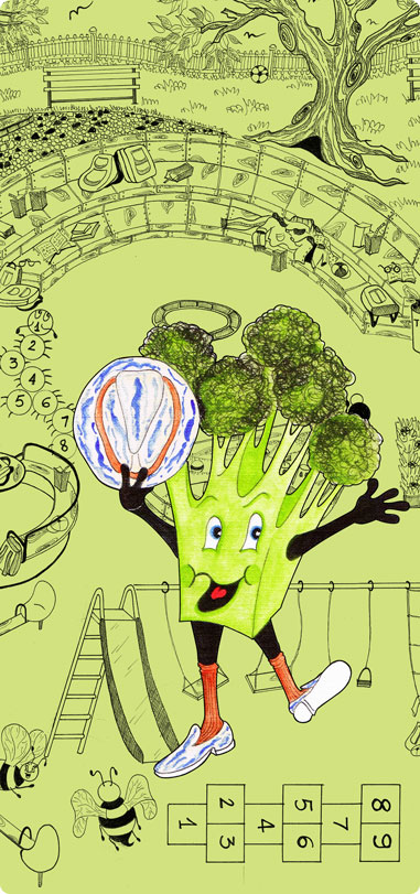 Broccoli Bruno: Connect and Color