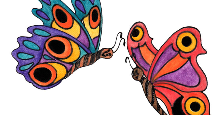Butterflies to finish & color